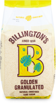 BILLINGTONS Golden granulated sugar 1kg