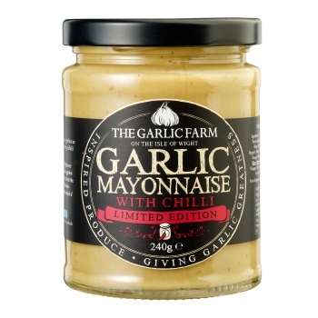 THE GARLIC FARM Knoblauch Mayonnaise mit Chili 240g