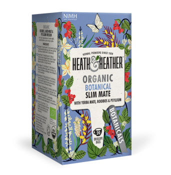 HEATH & HEATHER Bio Tee 'Slim Mate' mit Flohsamenschalen & Guarana (20 Btl.) 40g