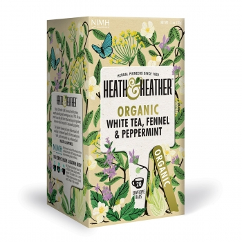 HEATH & HEATHER Bio Weisser Tee mit Fenchel & Pfefferminze (20 Btl.) 30g