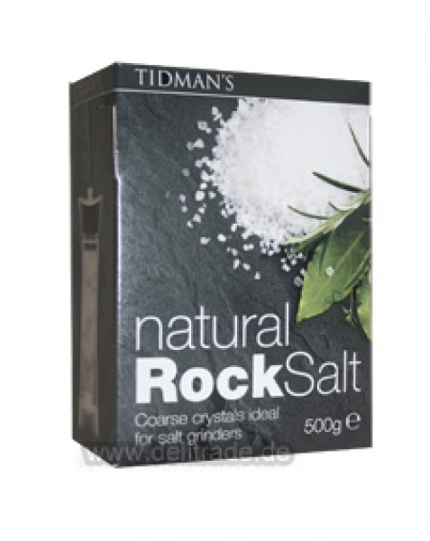 TIDMAN'S natural Rock Salt 500g