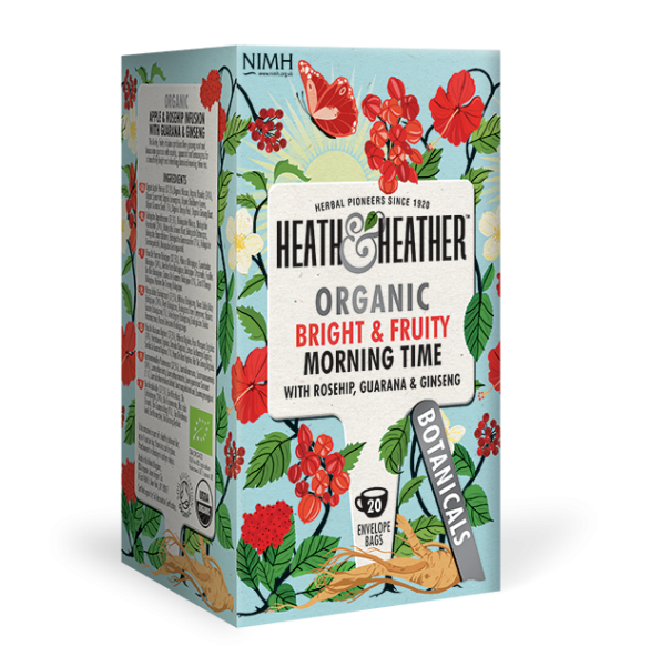 HEATH & HEATHER Bio Tee 'Morning Time' mit Guarana & Ginseng (20 Btl.) 40g